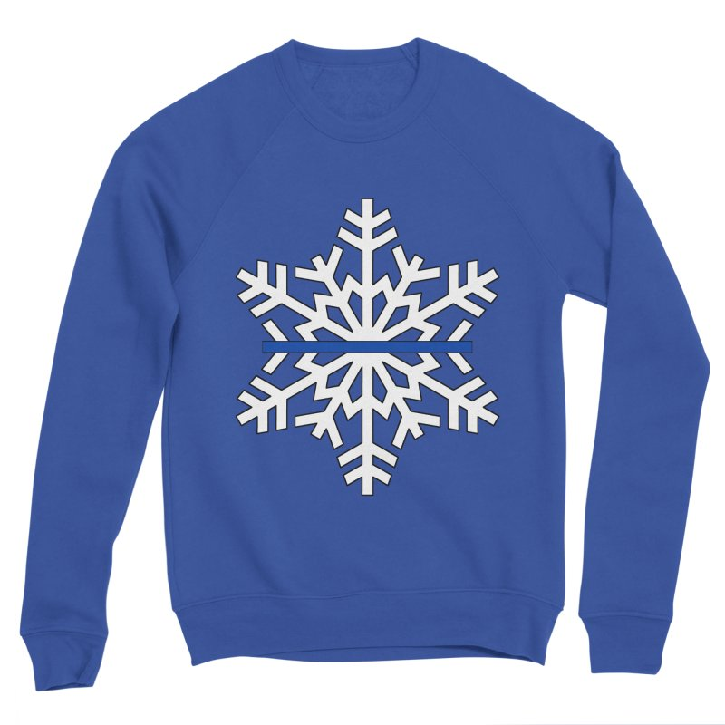 Blue Snowflake Women's Sweatshirt by Black Market Designs