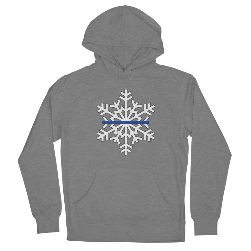 Blue Snowflake Women's Pullover Hoody by Black Market Designs