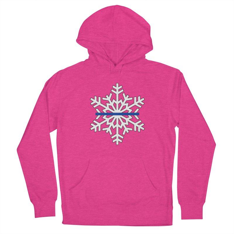 Blue Snowflake Men's Pullover Hoody by Black Market Designs