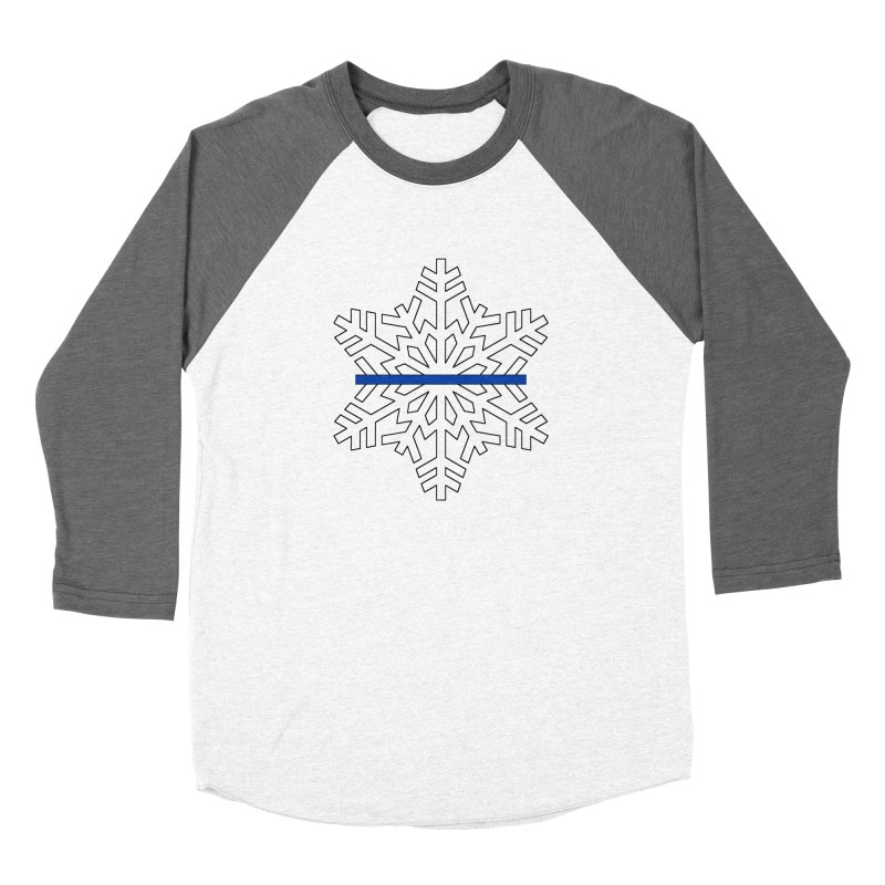 Blue Snowflake Women's Longsleeve T-Shirt by Black Market Designs