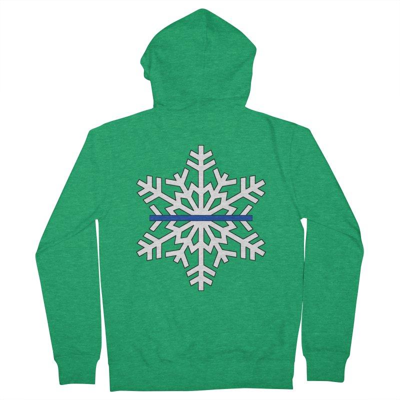 Blue Snowflake Women's Zip-Up Hoody by Black Market Designs