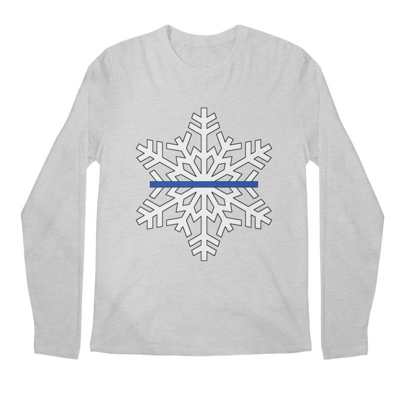 Blue Snowflake Men's Longsleeve T-Shirt by Black Market Designs