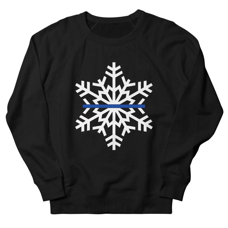 Blue Snowflake Men's Sweatshirt by Black Market Designs