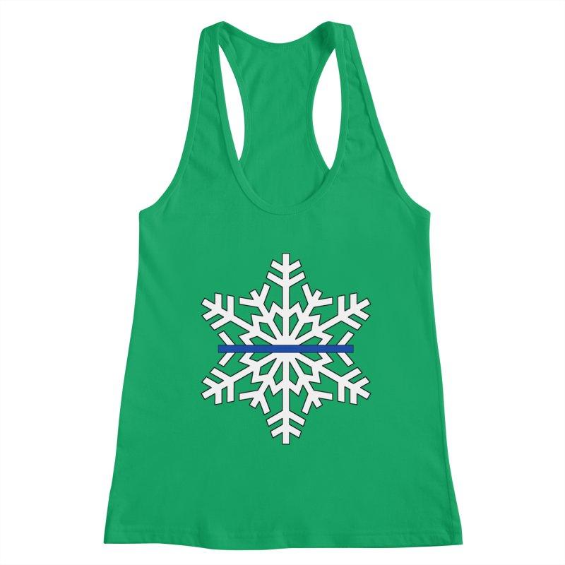 Blue Snowflake Women's Tank by Black Market Designs