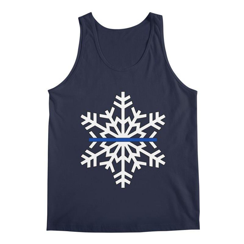 Blue Snowflake Men's Tank by Black Market Designs