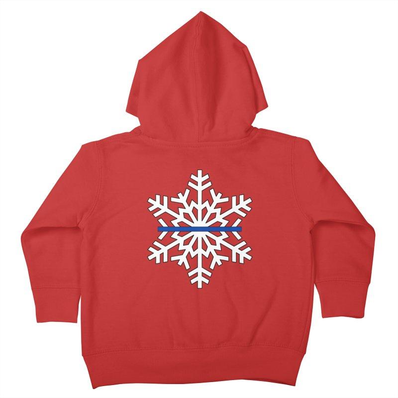 Blue Snowflake Kids Toddler Zip-Up Hoody by Black Market Designs