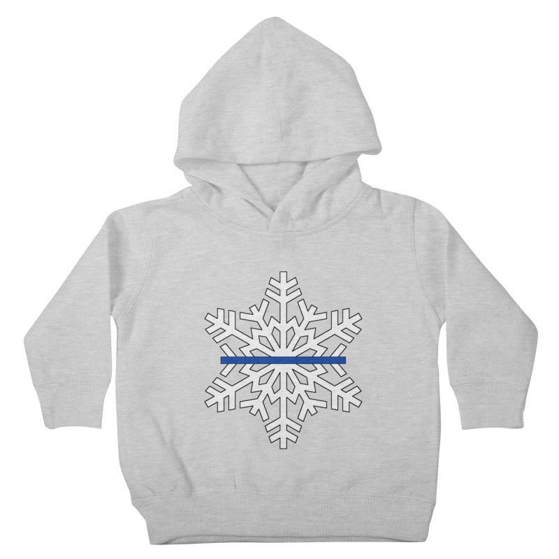 Blue Snowflake Kids Toddler Pullover Hoody by Black Market Designs