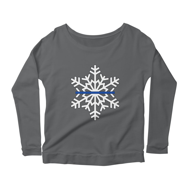 Blue Snowflake Women's Longsleeve T-Shirt by Black Market Designs