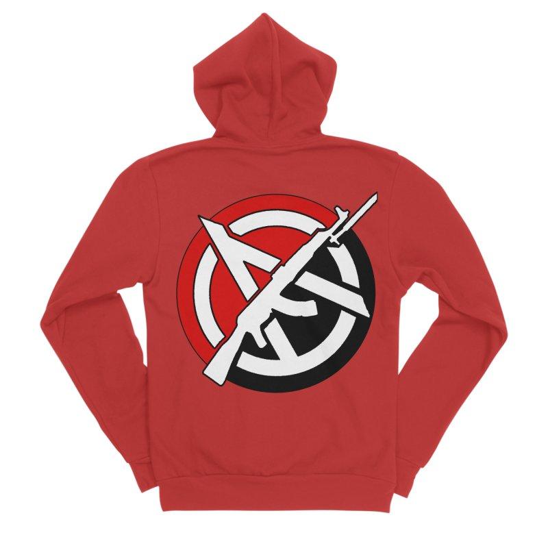 Ancom Anarchy Men's Zip-Up Hoody by Black Market Designs