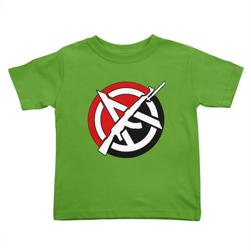 Ancom Anarchy Kids Toddler T-Shirt by Black Market Designs