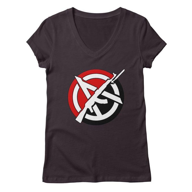 Ancom Anarchy Women's V-Neck by Black Market Designs