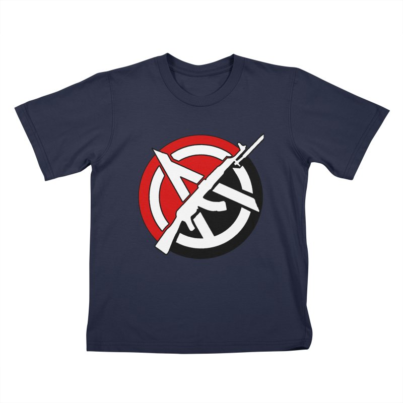 Ancom Anarchy Kids T-Shirt by Black Market Designs