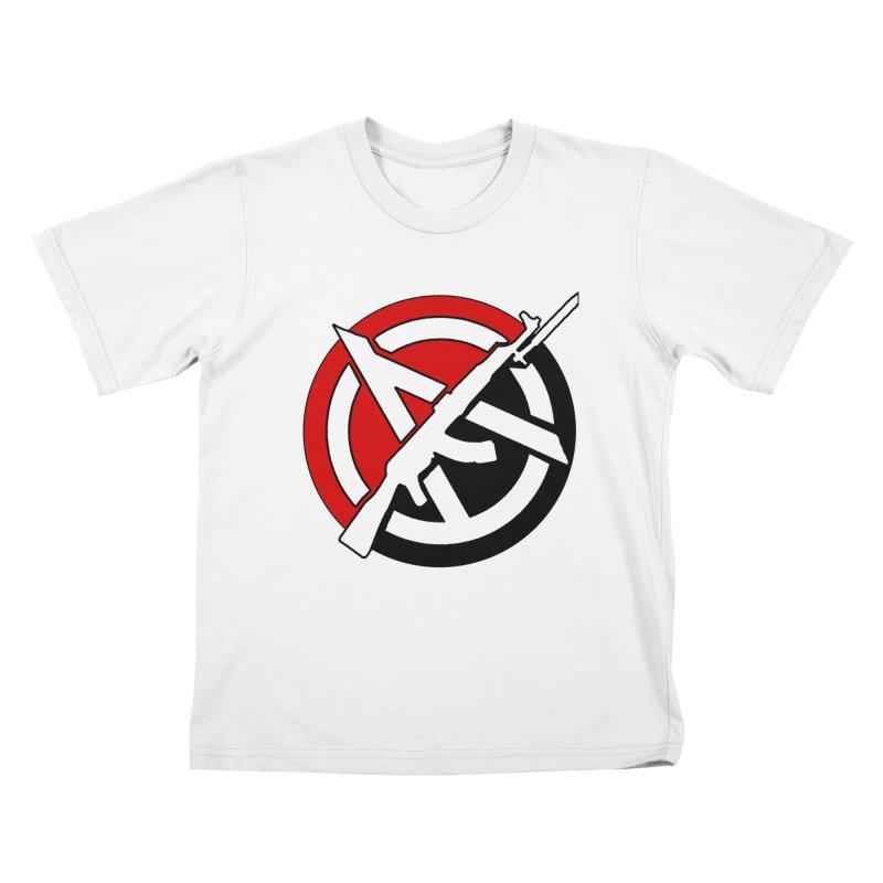 Ancom Anarchy Kids T-Shirt by Black Market Designs