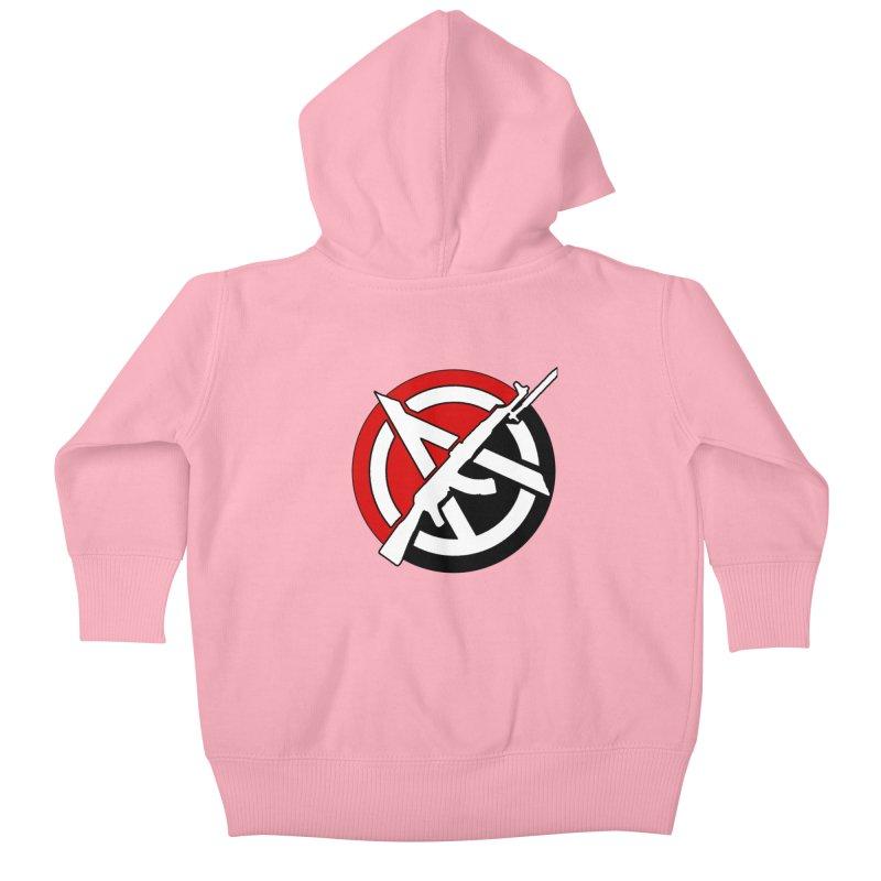 Ancom Anarchy Kids Baby Zip-Up Hoody by Black Market Designs