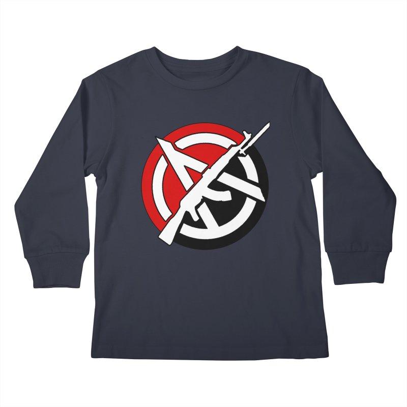 Ancom Anarchy Kids Longsleeve T-Shirt by Black Market Designs