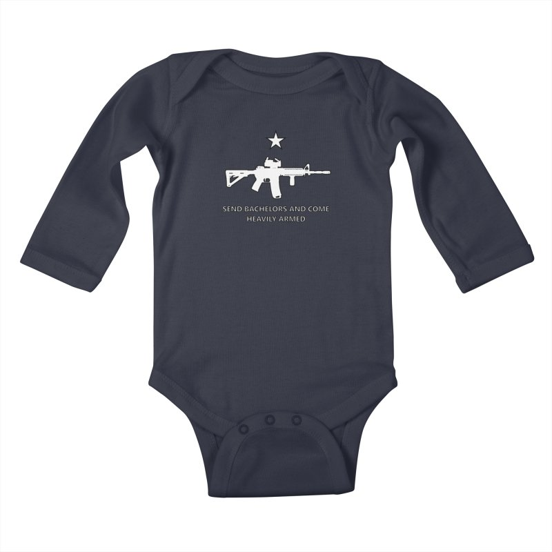 Send Bachelors Kids Baby Longsleeve Bodysuit by Black Market Designs