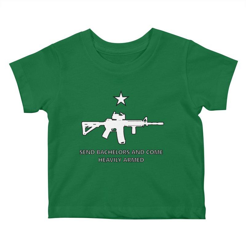 Send Bachelors Kids Baby T-Shirt by Black Market Designs