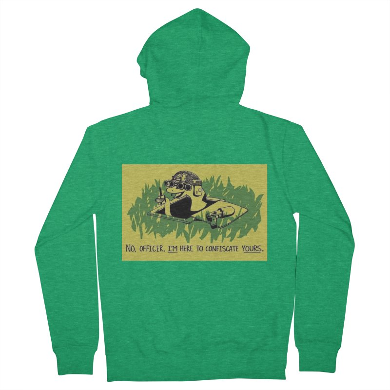 Confiscate This Men's Zip-Up Hoody by Black Market Designs