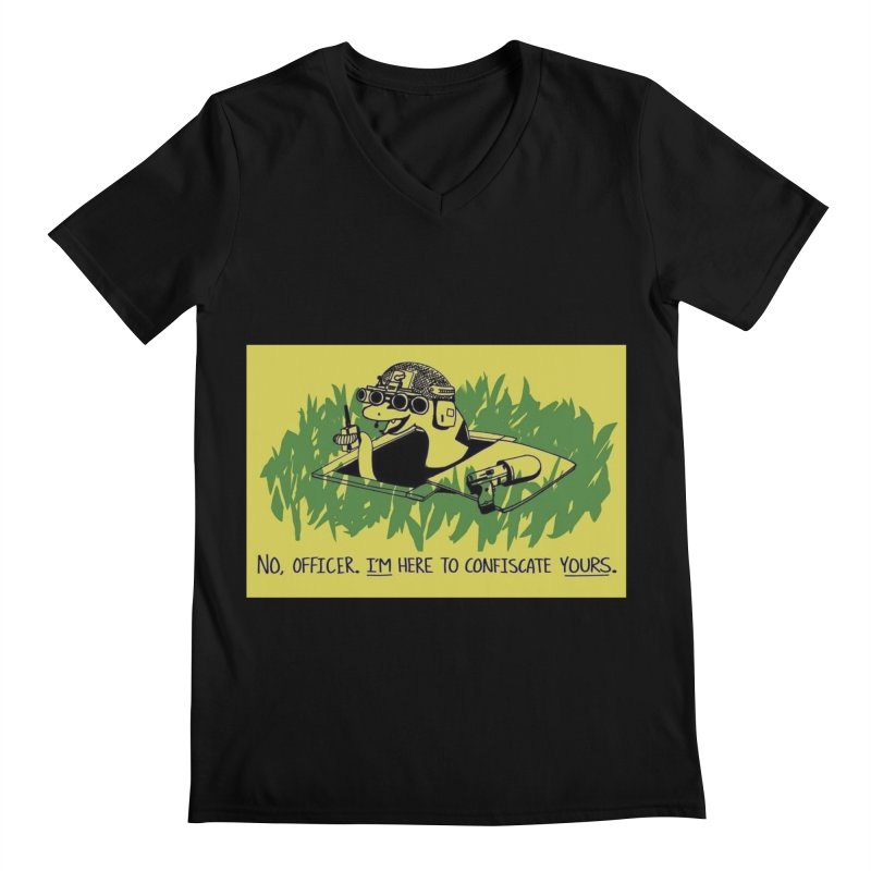 Confiscate This Men's V-Neck by Black Market Designs