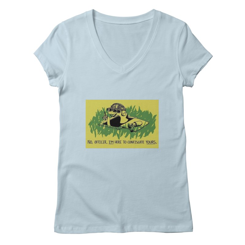 Confiscate This Women's V-Neck by Black Market Designs
