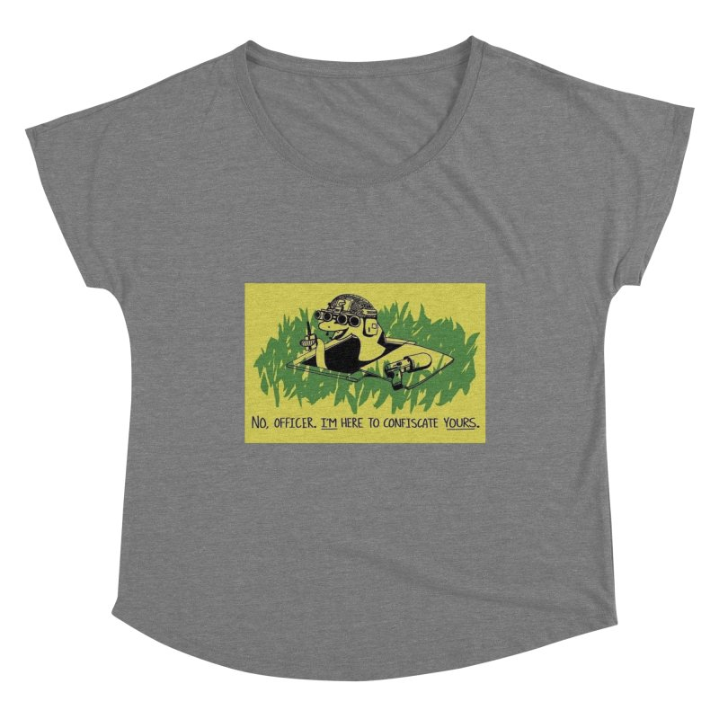 Confiscate This Women's Scoop Neck by Black Market Designs