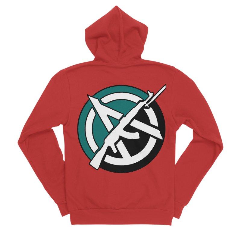 Egoist Anarchy Men's Zip-Up Hoody by Black Market Designs
