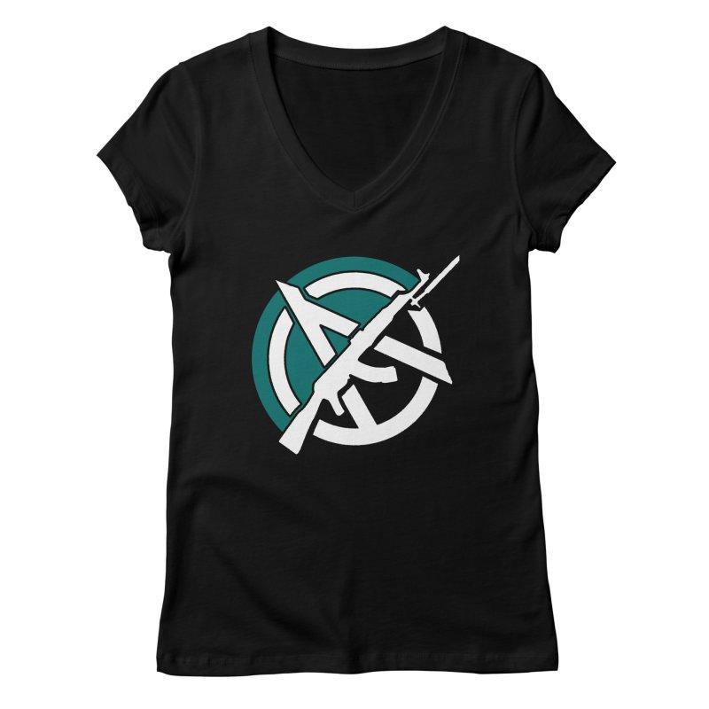 Egoist Anarchy Women's V-Neck by Black Market Designs