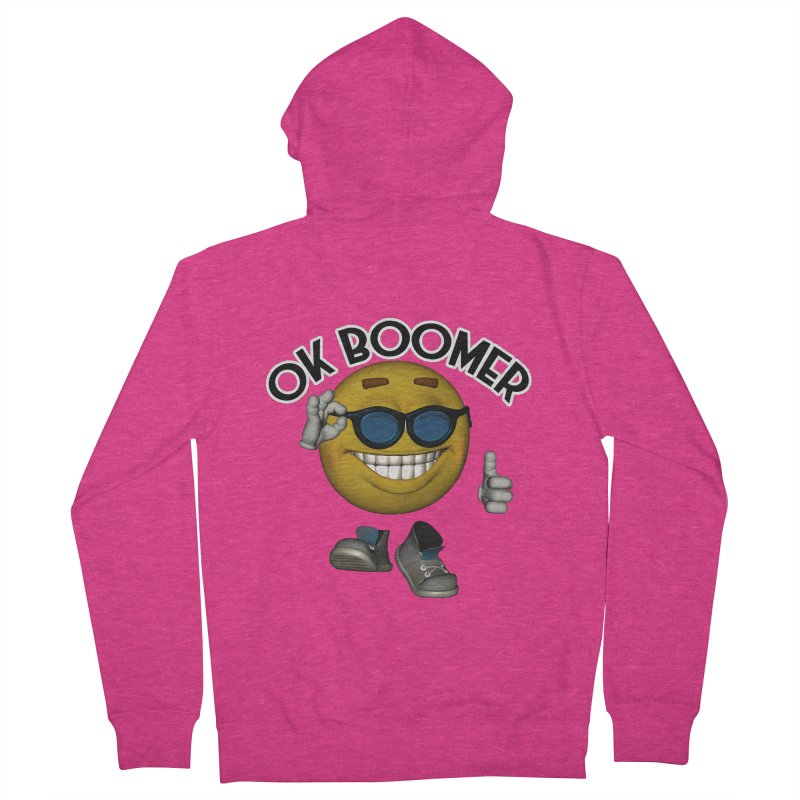 Ok Boomer Women's Zip-Up Hoody by Black Market Designs
