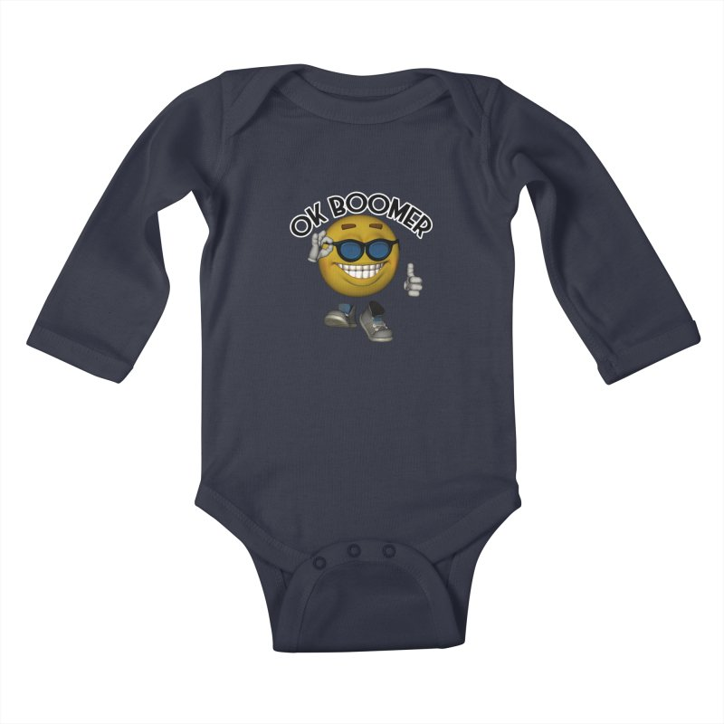 Ok Boomer Kids Baby Longsleeve Bodysuit by Black Market Designs