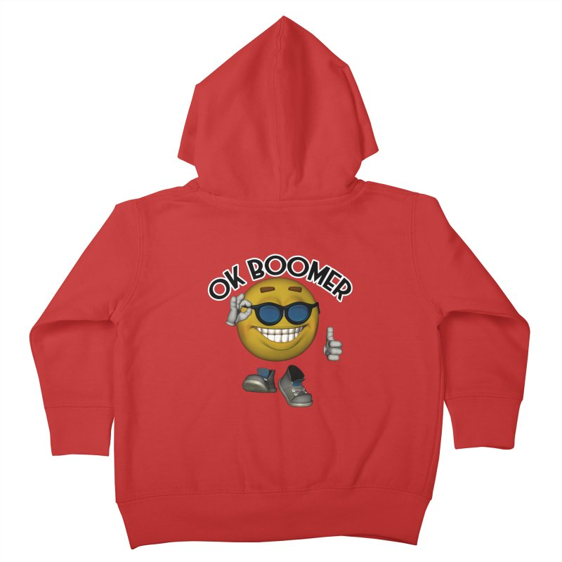 Ok Boomer Kids Toddler Zip-Up Hoody by Black Market Designs