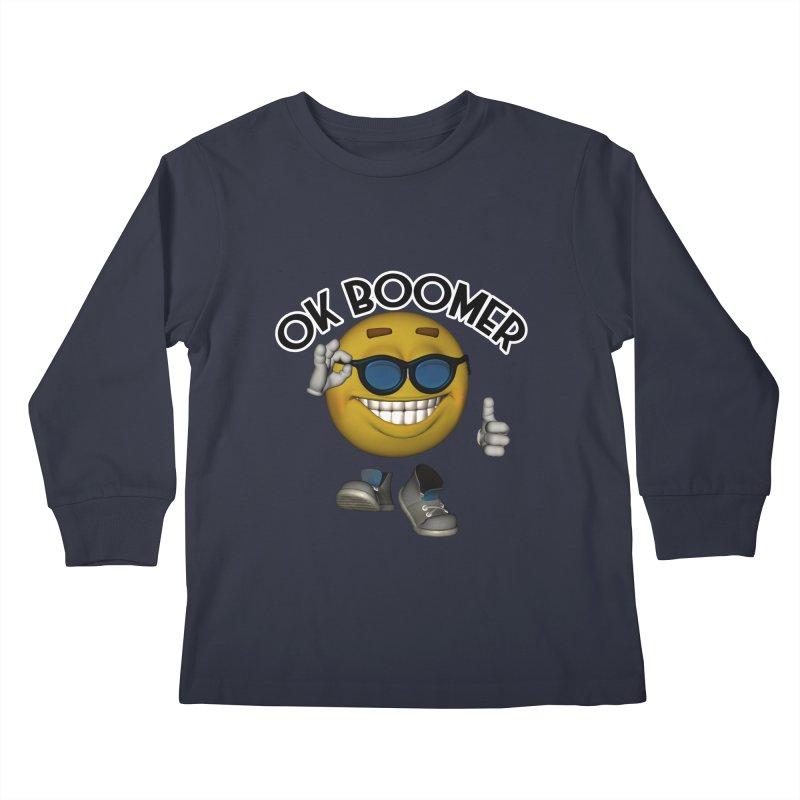 Ok Boomer Kids Longsleeve T-Shirt by Black Market Designs