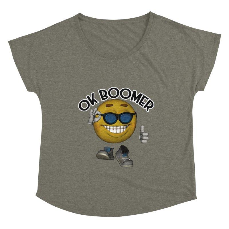 Ok Boomer Women's Scoop Neck by Black Market Designs