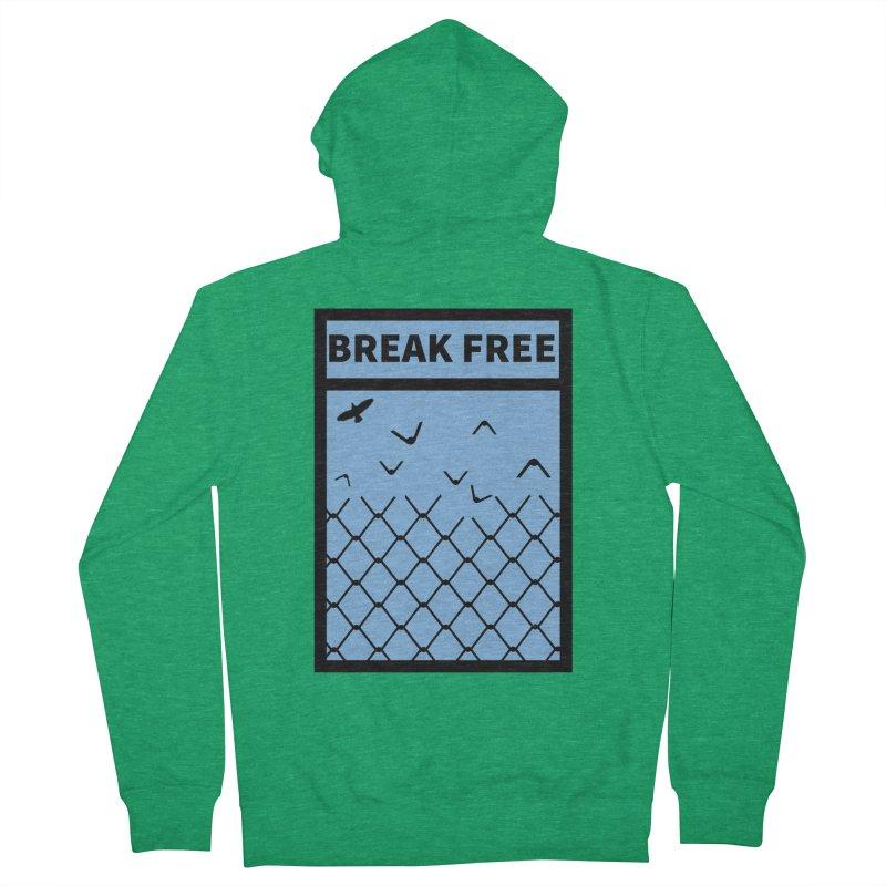 Break Free Men's Zip-Up Hoody by Black Market Designs