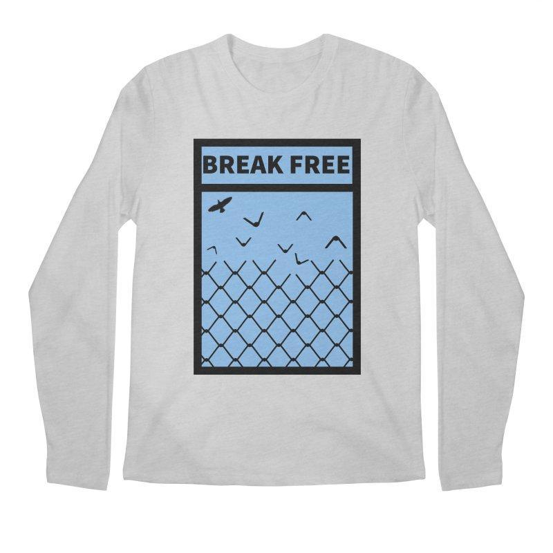 Break Free Men's Longsleeve T-Shirt by Black Market Designs