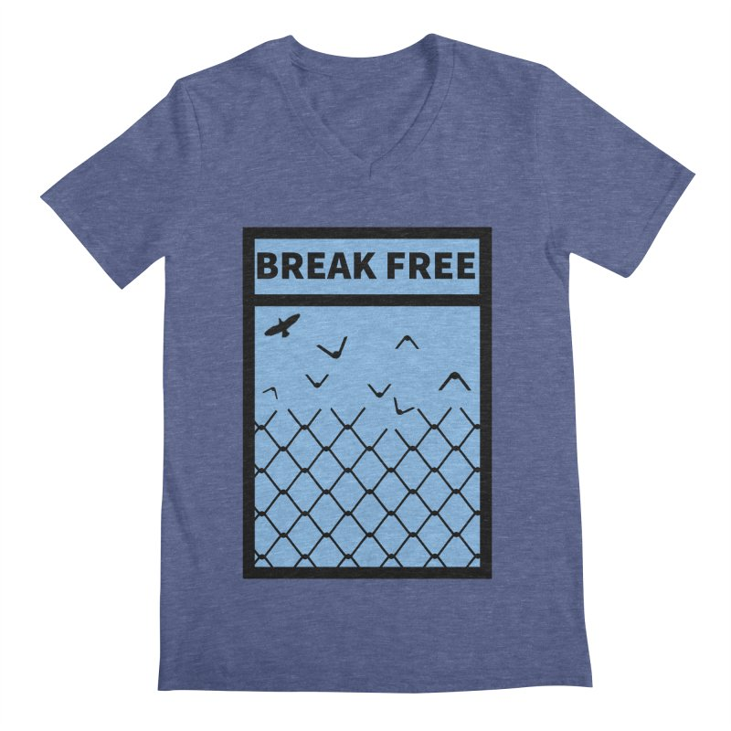 Break Free Men's V-Neck by Black Market Designs