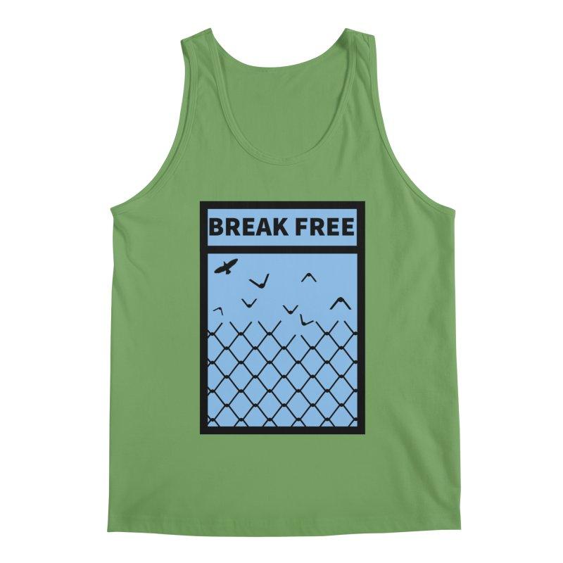 Break Free Men's Tank by Black Market Designs