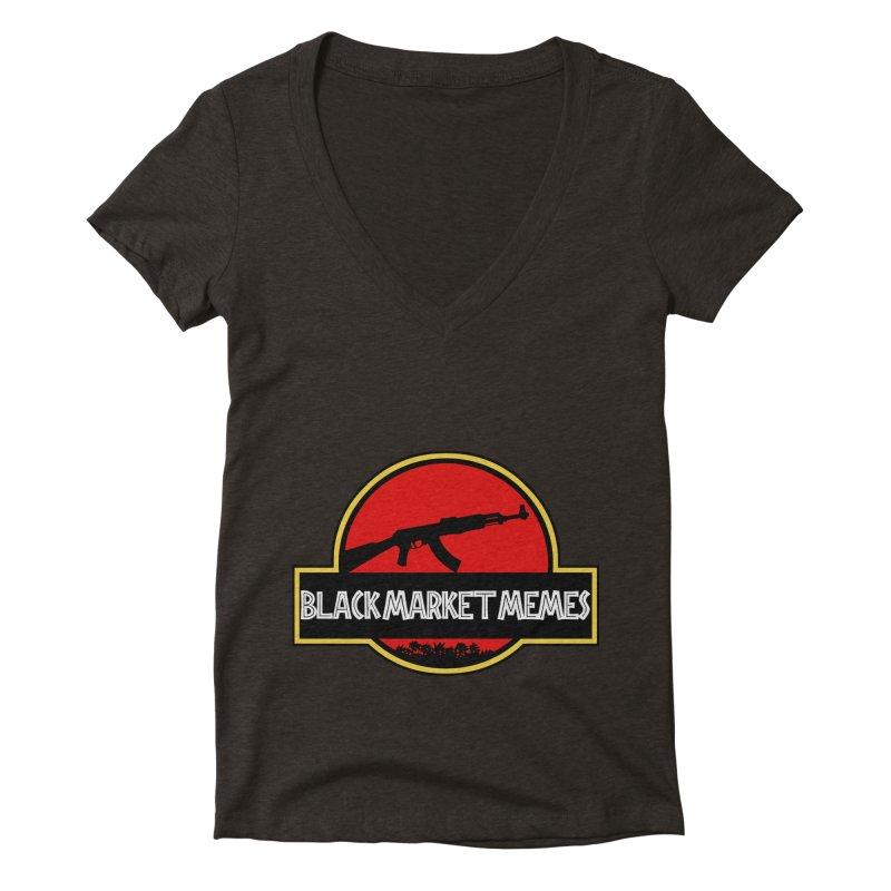 BMM AK Women's V-Neck by Black Market Designs