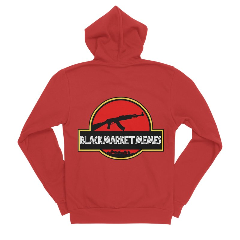 BMM AK Men's Zip-Up Hoody by Black Market Designs
