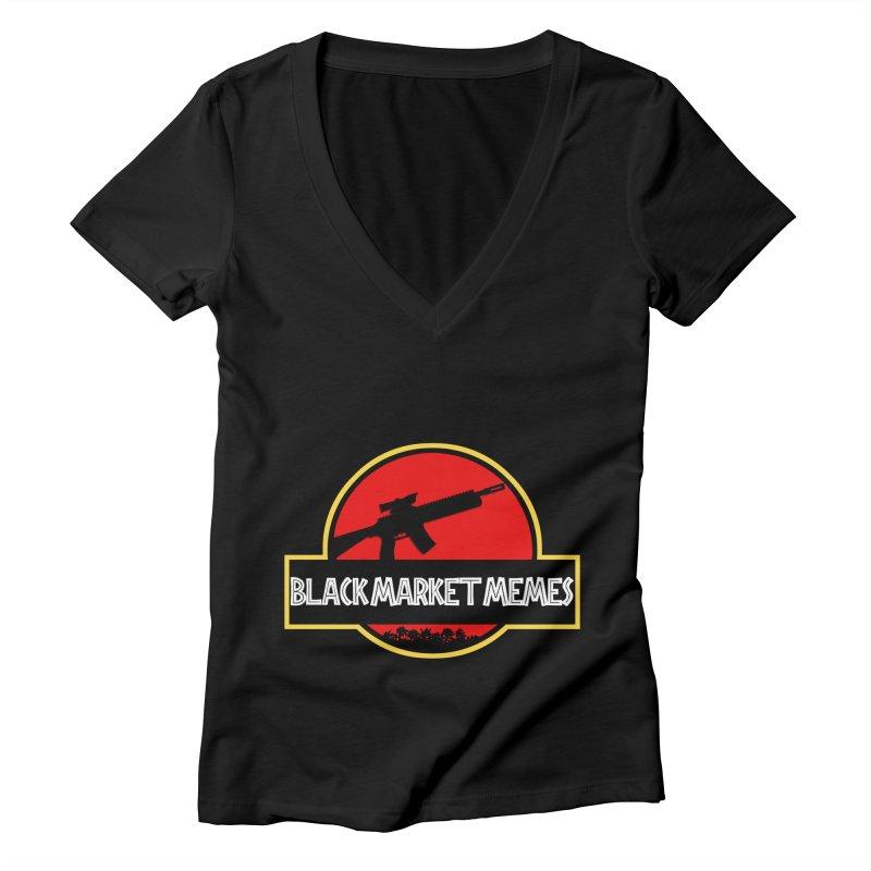 BMM AR Women's V-Neck by Black Market Designs