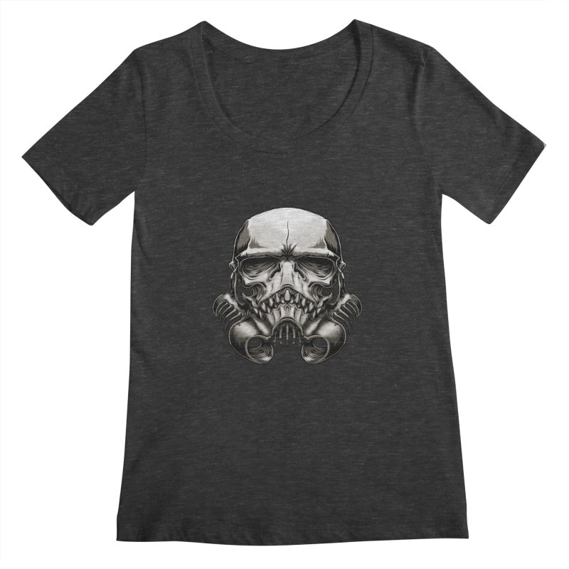 Skull Trooper Women's Scoopneck by blackoutbrother's Artist Shop