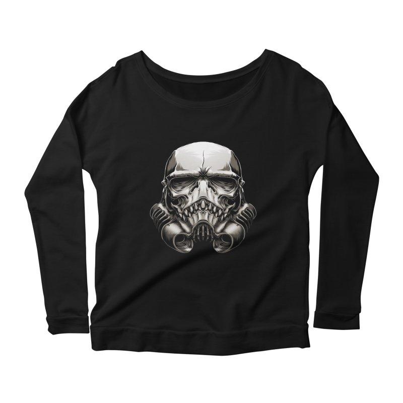 Skull Trooper Women's Longsleeve Scoopneck  by blackoutbrother's Artist Shop