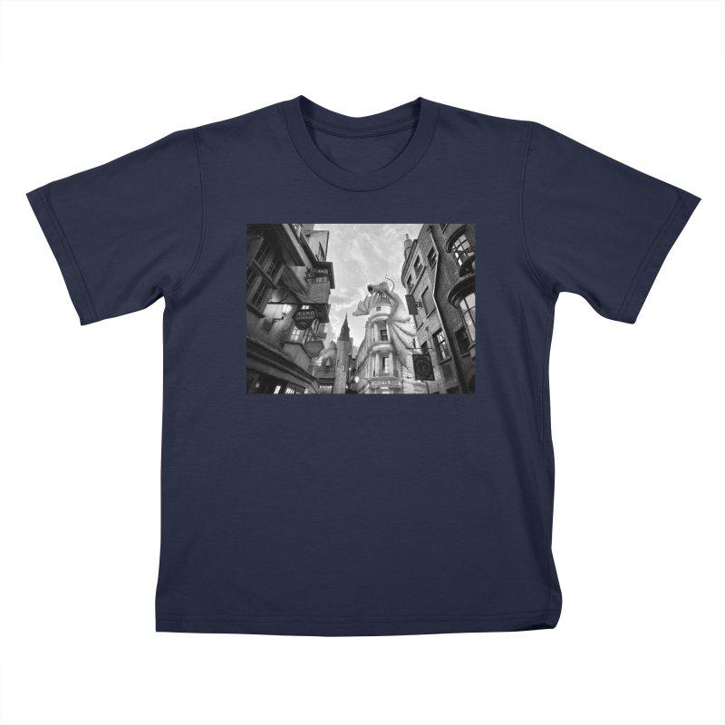 Diagon Alley Kids T-Shirt by Black Rhino Studios