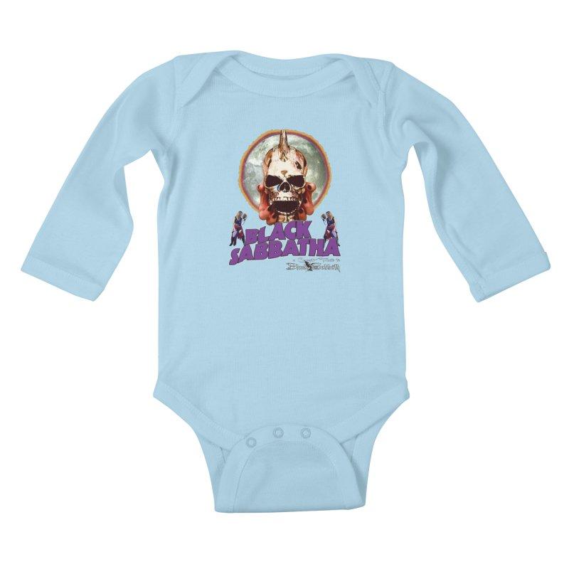 Black Sabbatha Soul Swag Wear Kids Baby Longsleeve Bodysuit by Black Sabbatha Soul Swag Swap