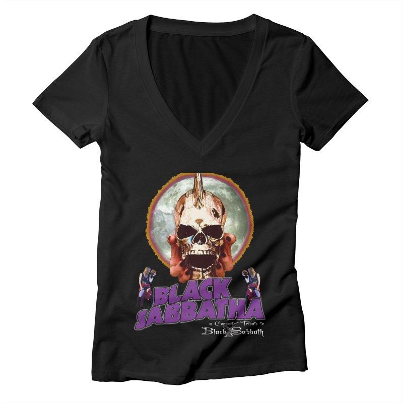 Black Sabbatha Soul Swag Wear Women's V-Neck by Black Sabbatha Soul Swag Swap