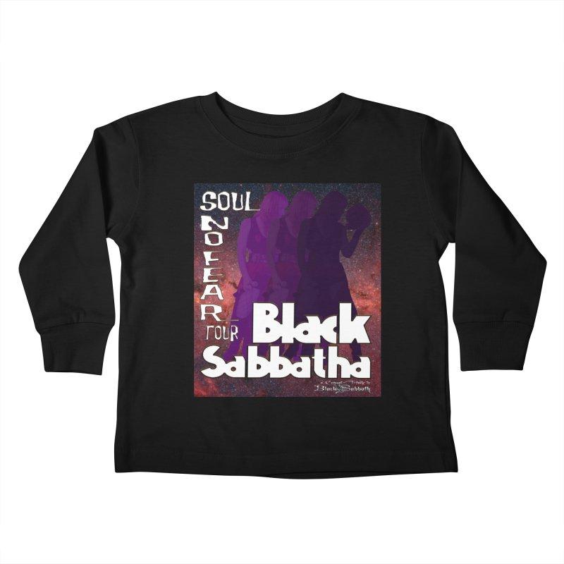 Black Sabbatha Soul No FEAR Kids Toddler Longsleeve T-Shirt by Black Sabbatha Soul No FEAR