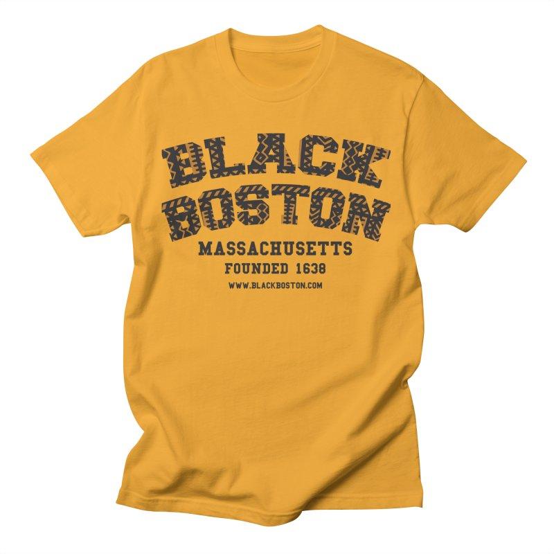 Black Boston Classic 1638 Foundation T-Shirts Men's T-Shirt by Boston Black Heritage Classic  souvenir t-shirts a
