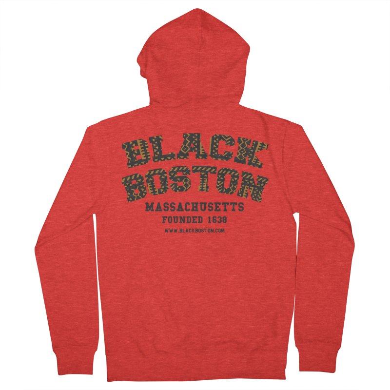 Black Boston Classic 1638 Foundation T-Shirts Men's Zip-Up Hoody by Boston Black Heritage Classic  souvenir t-shirts a