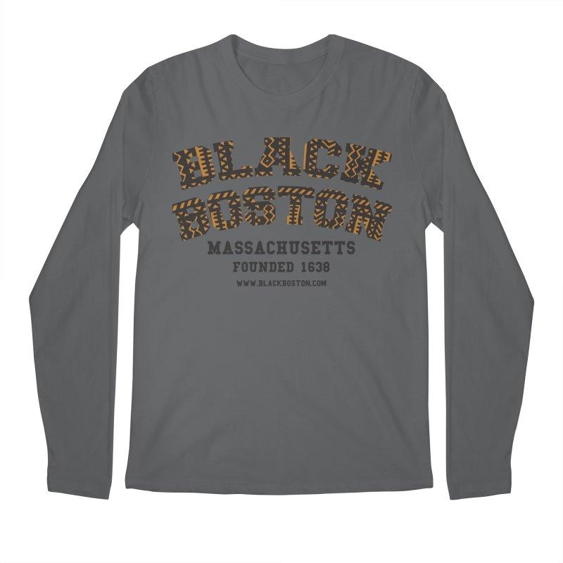 Black Boston Classic 1638 Foundation T-Shirts Men's Longsleeve T-Shirt by Boston Black Heritage Classic  souvenir t-shirts a