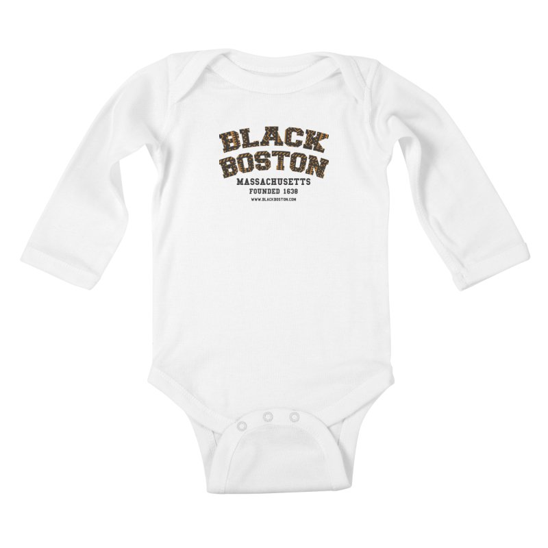 The Black Boston Classic foundational shirt catalog. Kids Baby Longsleeve Bodysuit by Shop.BlackBoston.com