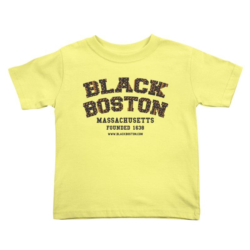 The Black Boston Classic foundational shirt catalog. Kids Toddler T-Shirt by Shop.BlackBoston.com